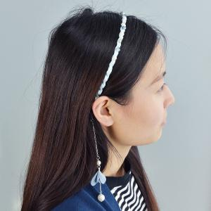 Colorful Ribbon with Drilled Wave Flower Hairbands -