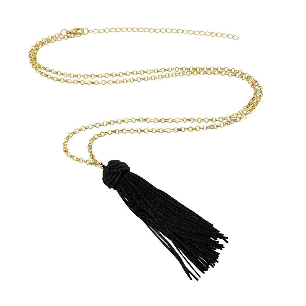 Best Long Chain with Tassel Chinese Knot Pendant Necklace