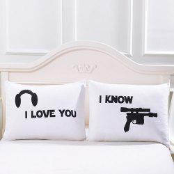 2Pcs Gunners Body Decorative  Print Pillow Case -
