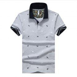 Hommes Polo Shirt Impression Mode Lapel Polo -