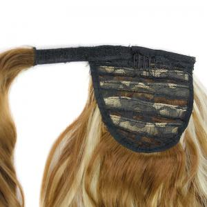 Synthetic Wrap Around Ponytail Hairpieces Long Wavy Hair Extension for Girls -