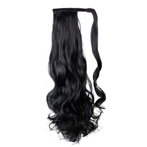 Hot Synthetic Wrap Around Ponytail Hairpieces Long Wavy Hair Extension for Girls