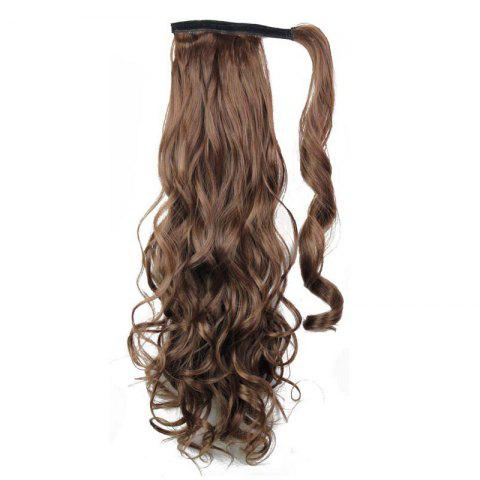 Sale Synthetic Wrap Around Ponytail Hairpieces Long Wavy Hair Extension for Girls