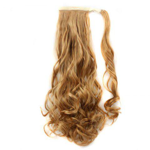 Online Synthetic Wrap Around Ponytail Hairpieces Long Wavy Hair Extension for Girls