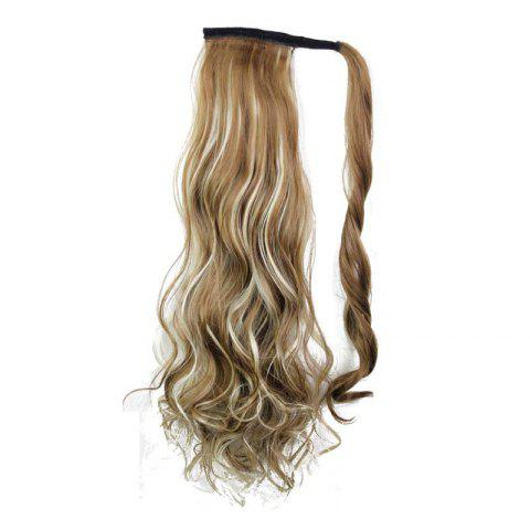 Store Synthetic Wrap Around Ponytail Hairpieces Long Wavy Hair Extension for Girls