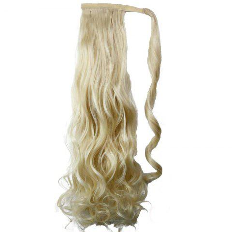 Unique Synthetic Wrap Around Ponytail Hairpieces Long Wavy Hair Extension for Girls