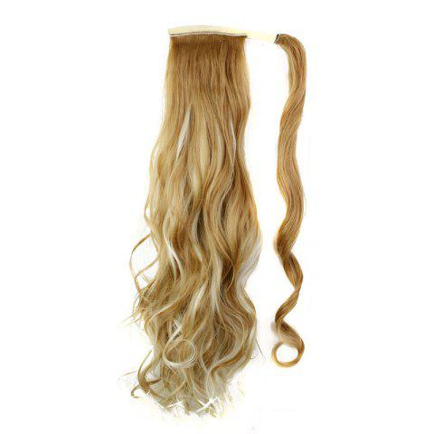 Best Synthetic Wrap Around Ponytail Hairpieces Long Wavy Hair Extension for Girls