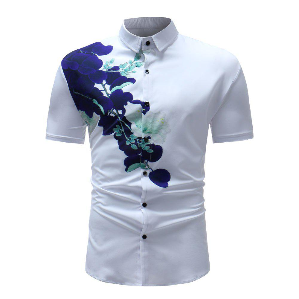 Sale Men's Summer 3D Printed Short Sleeve Unique Flower Shirt