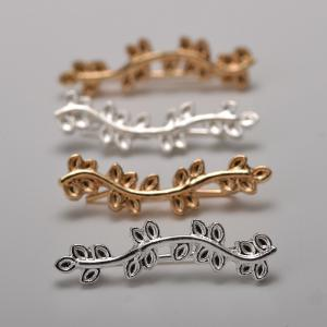 New Ornaments Popular Multi Leaf Leaves Curved Branches Ear Earrings -