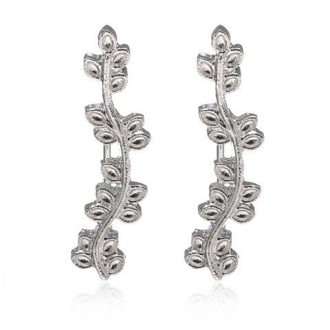 Store New Ornaments Popular Multi Leaf Leaves Curved Branches Ear Earrings