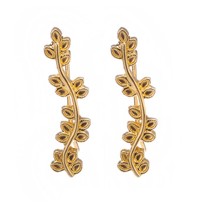 New New Ornaments Popular Multi Leaf Leaves Curved Branches Ear Earrings