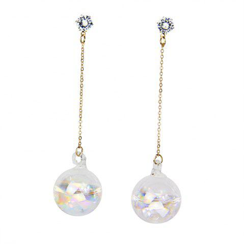Shop Water in The Ball Night-luminescent Rhinestone Long Chain Earrings