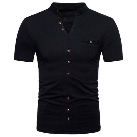 Sale New Fashion Men's Collar Design Ouma Short-Sleeved T-Shirt