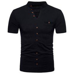 New Fashion Men's Collar Design Ouma Short-Sleeved T-Shirt -