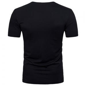 New Fashion Ouma Men's Stitching Short-Sleeved T-Shirt -