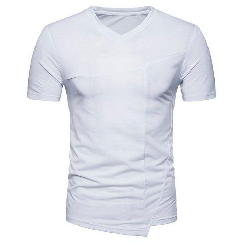Affordable New Fashion Ouma Men's Stitching Short-Sleeved T-Shirt