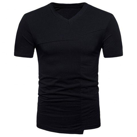Chic New Fashion Ouma Men's Stitching Short-Sleeved T-Shirt