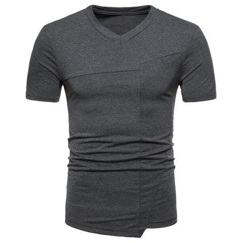 Unique New Fashion Ouma Men's Stitching Short-Sleeved T-Shirt