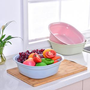 DIHE Small Size Simple Practical Square Plastic Washbasin -