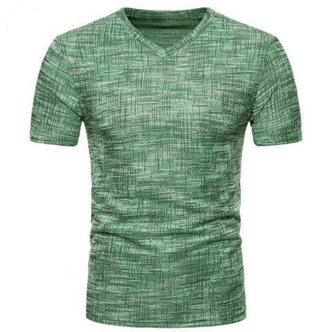 Outfit Men's Casual Pure Color Slim Fit Short Sleeve Cotton T-shirts