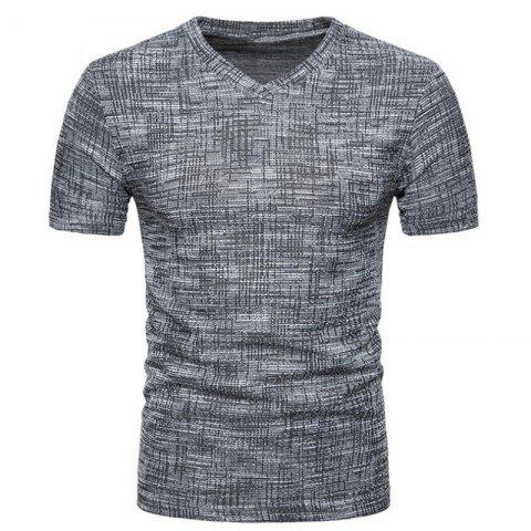 Affordable Men's Casual Pure Color Slim Fit Short Sleeve Cotton T-shirts