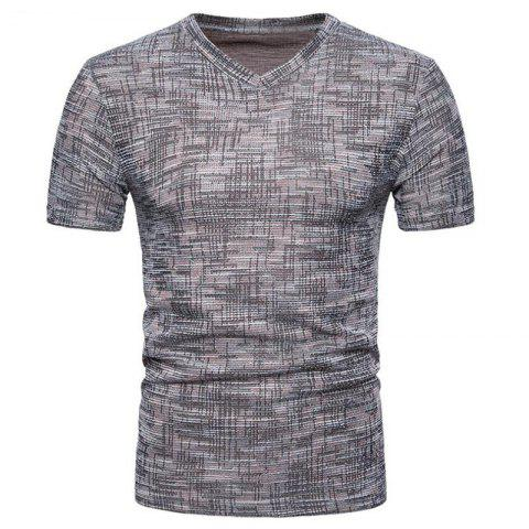 Chic Men's Casual Pure Color Slim Fit Short Sleeve Cotton T-shirts