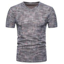 Men's Casual Pure Color Slim Fit Short Sleeve Cotton T-shirts -