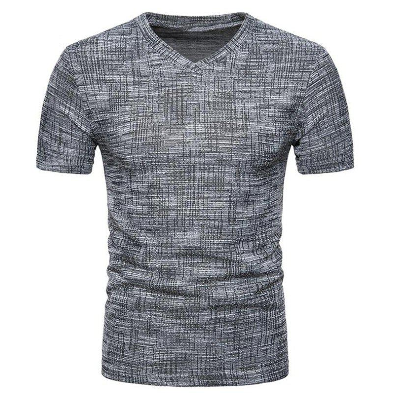 Fashion Men's Casual Pure Color Slim Fit Short Sleeve Cotton T-shirts