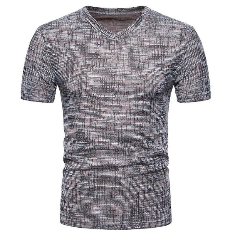 Best Men's Casual Pure Color Slim Fit Short Sleeve Cotton T-shirts