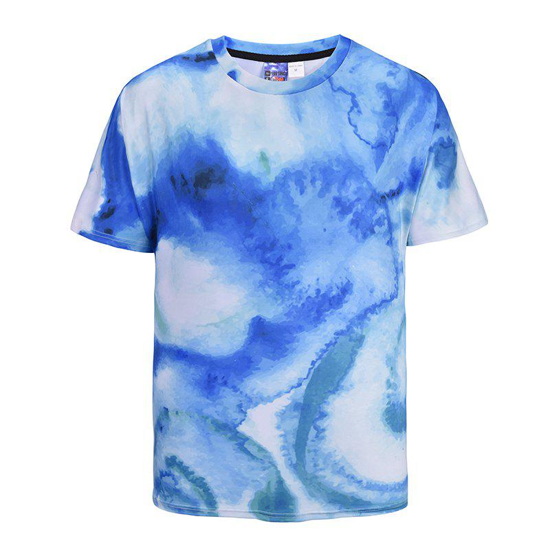 Shop Men's Casual 3D Print Watercolor Short Sleeves T-shirt