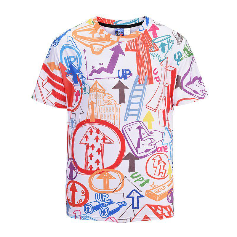 New Men's Casual 3D Print Hand Painted Short Sleeves T-shirt