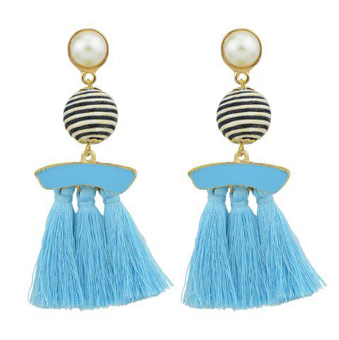 Best Bead with Colorful Enamel Tassel Statement Earrings