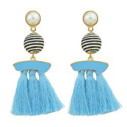 Bead with Colorful Enamel Tassel Statement Earrings -