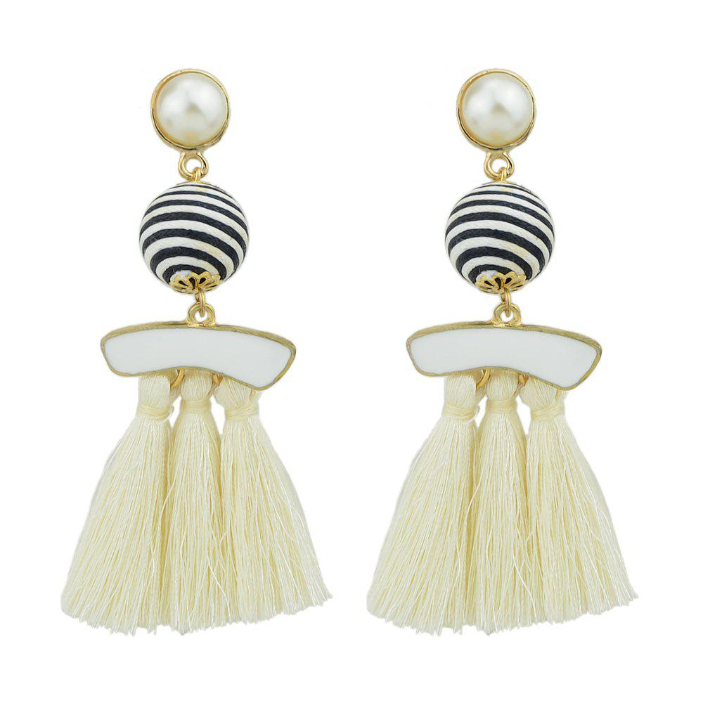 Discount Bead with Colorful Enamel Tassel Statement Earrings