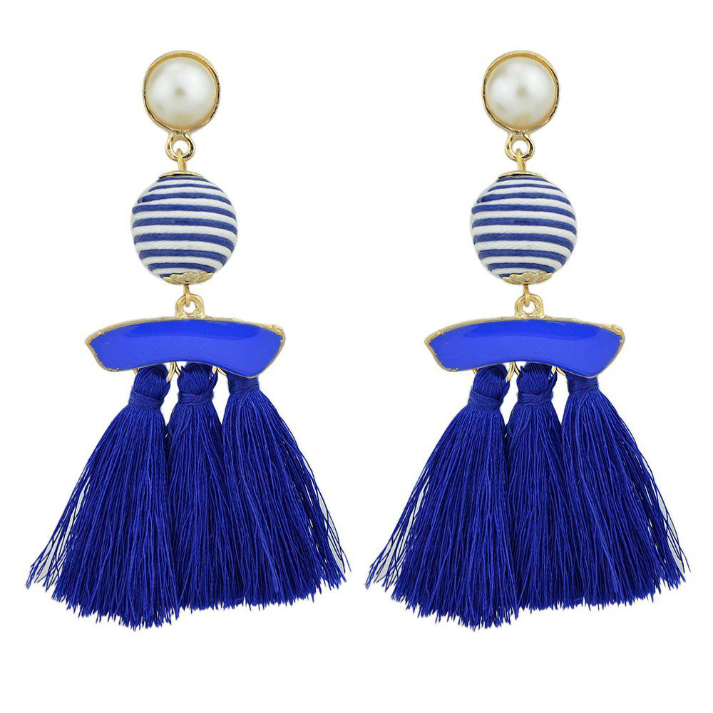 Hot Bead with Colorful Enamel Tassel Statement Earrings