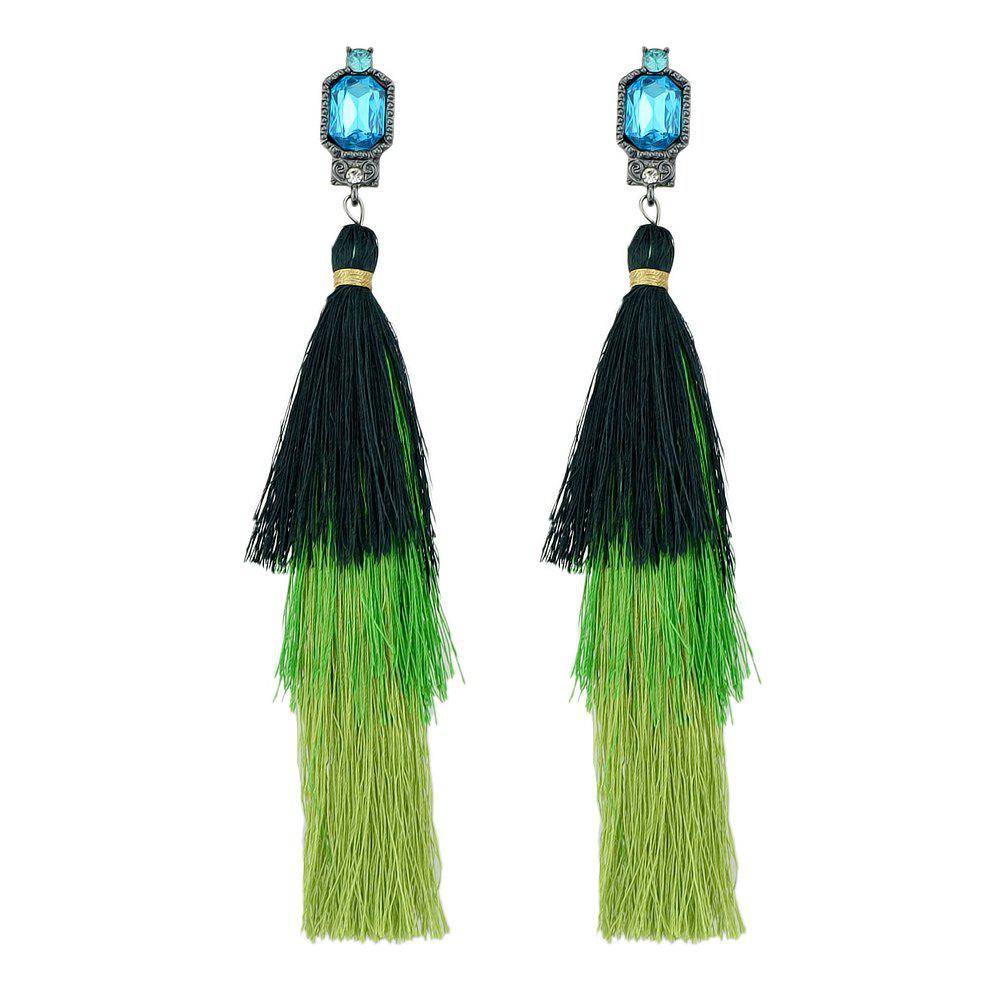 Shop Colorful Multi Layer Long Tassel Big Earrings