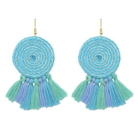 Hot Candy Color Long Tassel Big Hanging Earrings