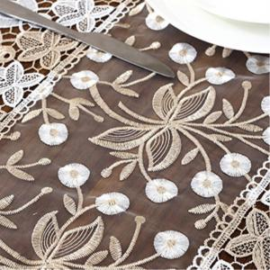 European-Style Tea Table  Glass Gauze Lace Cover -