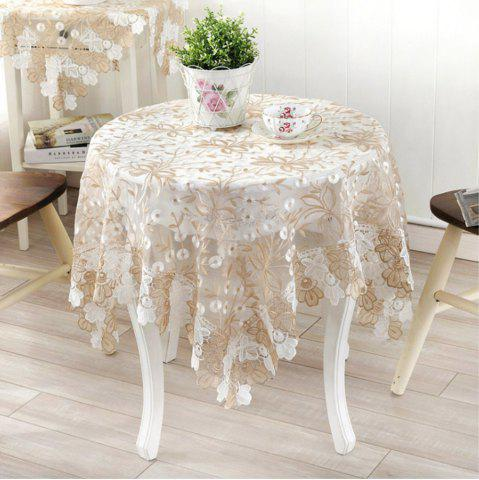 Cheap European-Style Tea Table  Glass Gauze Lace Cover