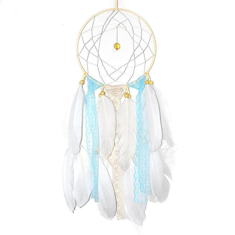 Unique Creative Arts Fresh Girl Bedroom Dreamcatcher Feather Hanging Decorations