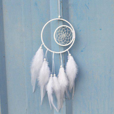 Outfits Creative White Double Feathered Dreamcatcher Hanging Decorations