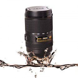 Automatic Mixing Cup Camera Lens Stainless Steel  Coffee Tea Mug Travel -