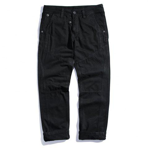 Fashion Men's Cotton Loose and Large Size Casual Pants