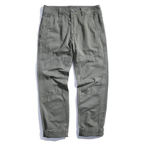 Online Men's Cotton Loose and Large Size Casual Pants