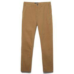 Men's Straight Tube Pure Color Tramp Fallow Pants -