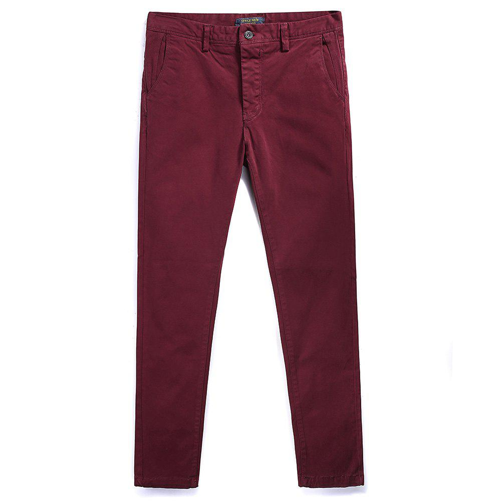 Chic Pure Cotton of Men's Straight Tube  Lounge Pants