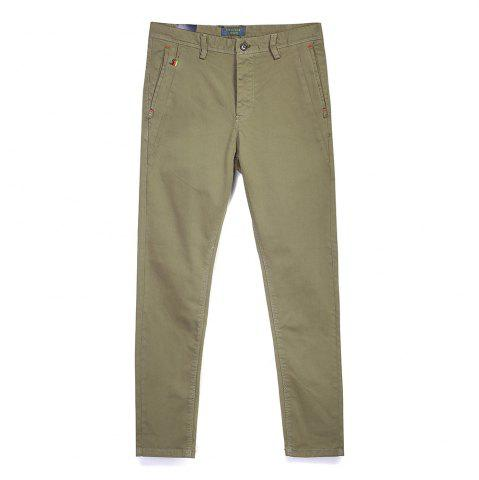 New Man Fashion Pure Color Straight Tube Casual Pants