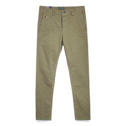 Pantalon simple droit de couleur unie de tube de mode d'homme -