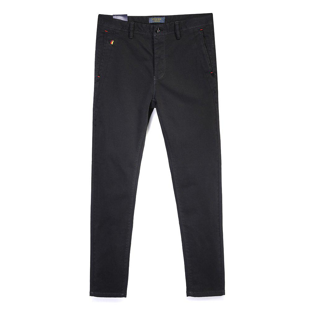Pantalon simple droit de couleur unie de tube de mode d'homme