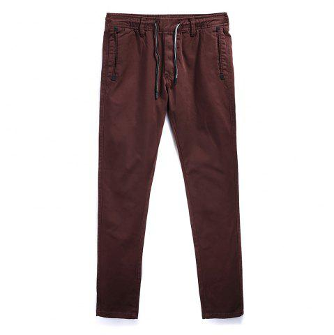 Outfit Man Fashion Simple Pure Color Straight Tube Big Code Casual Pants